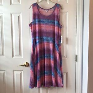 LuLaRoe Nicki Tank Dress XL